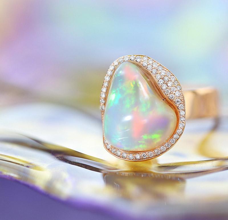 Richard-hans-Becker-All about opal, 750RG, Opal 7,15ct, 0,20W-SI, 1.558,--